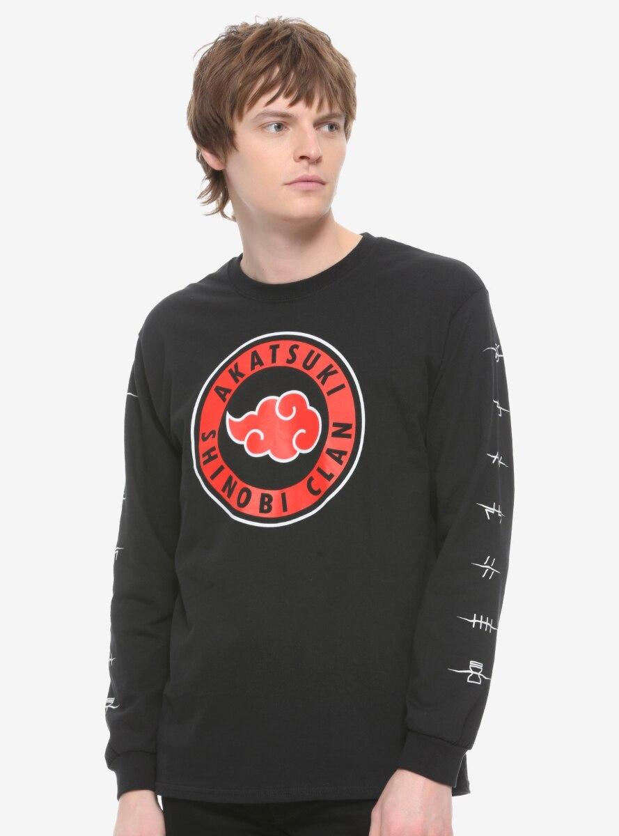 Naruto Shippuden Akatsuki Shinobi Clan Long Sleeve T-Shirt - BoxLunch Exclusive