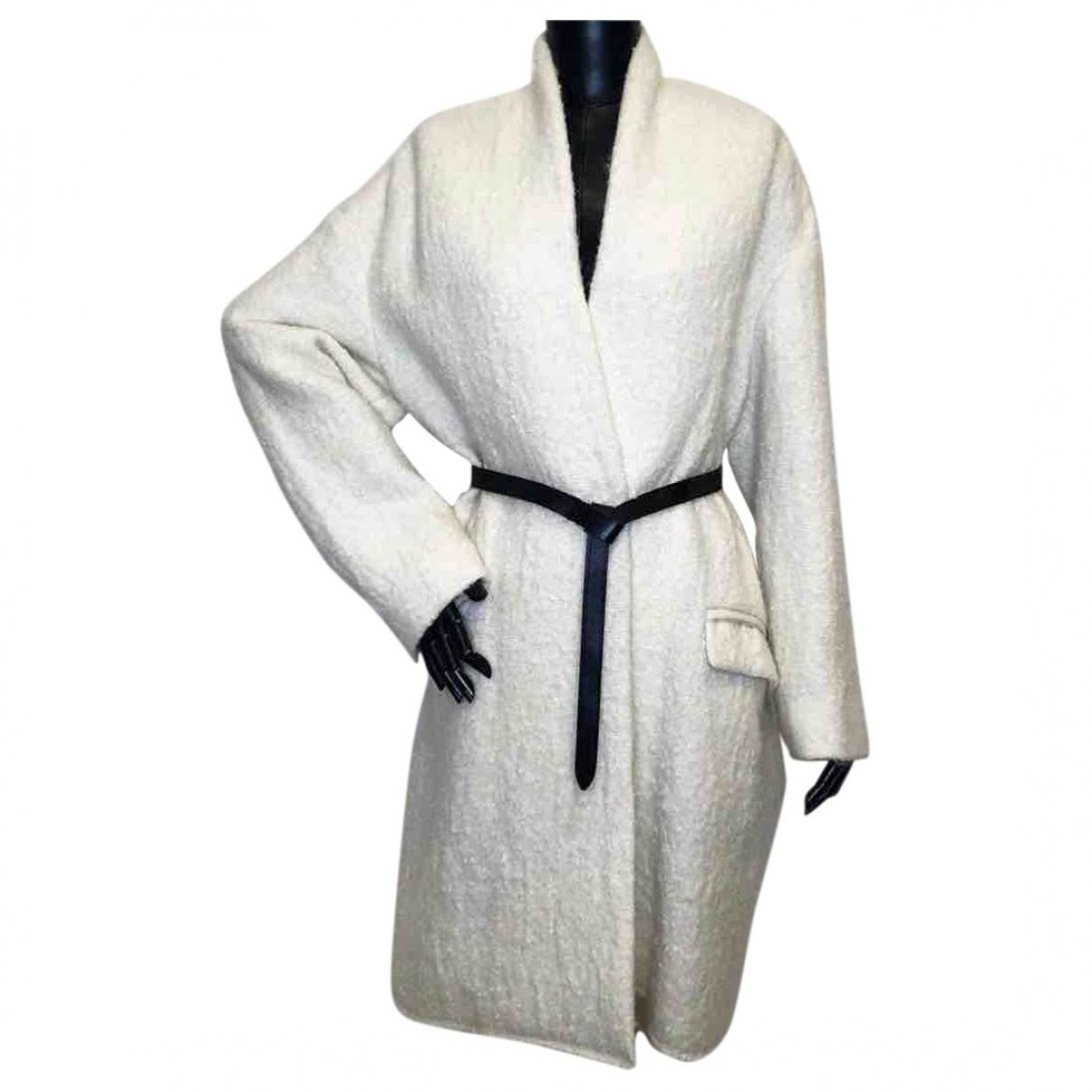 Isabel Marant - Manteau   pour femme en laine - blanc