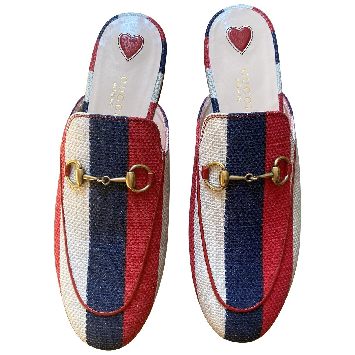 Gucci Princetown Multicolour Cloth Flats for Women 37.5 EU