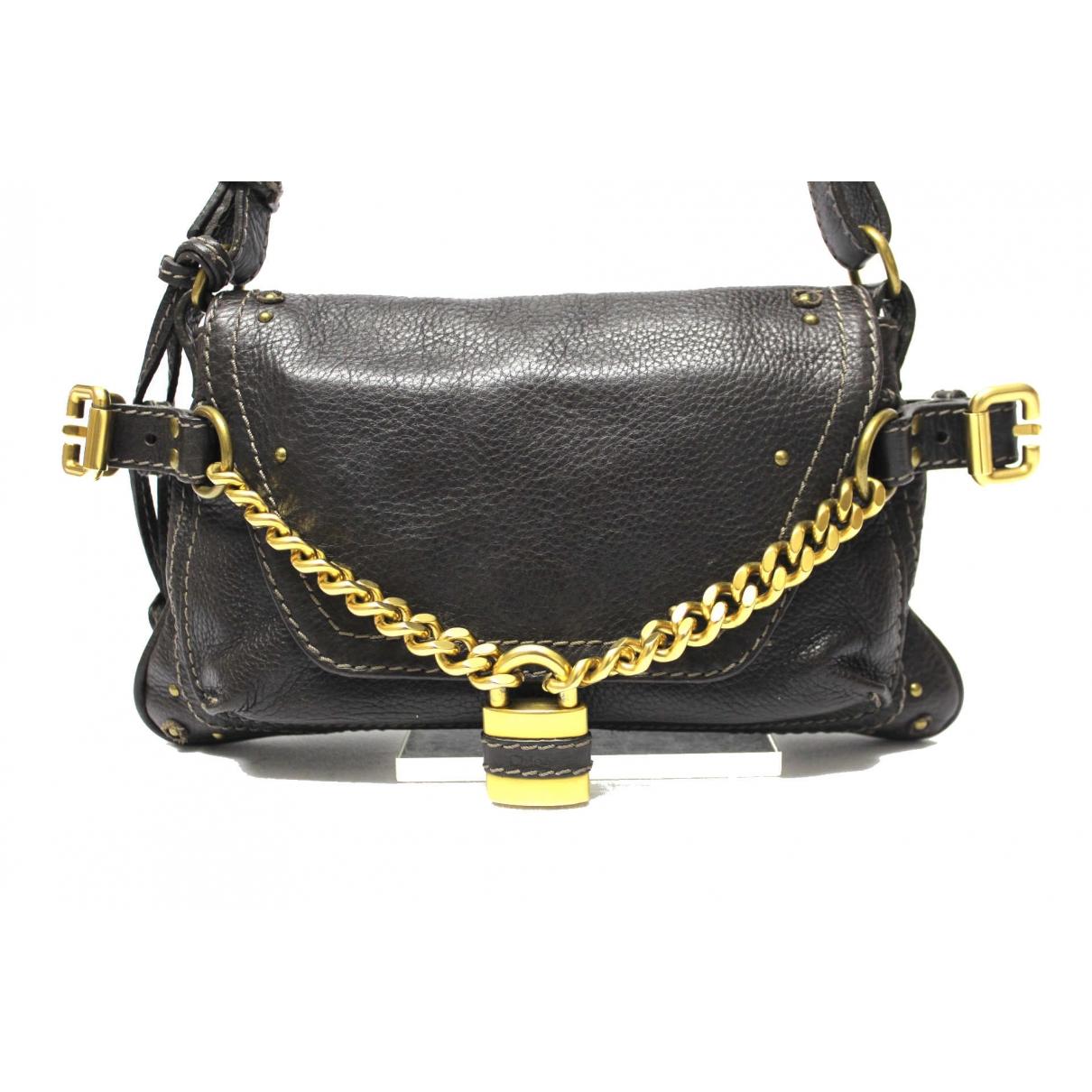 Chloe Paddington Handtasche in  Schwarz Leder