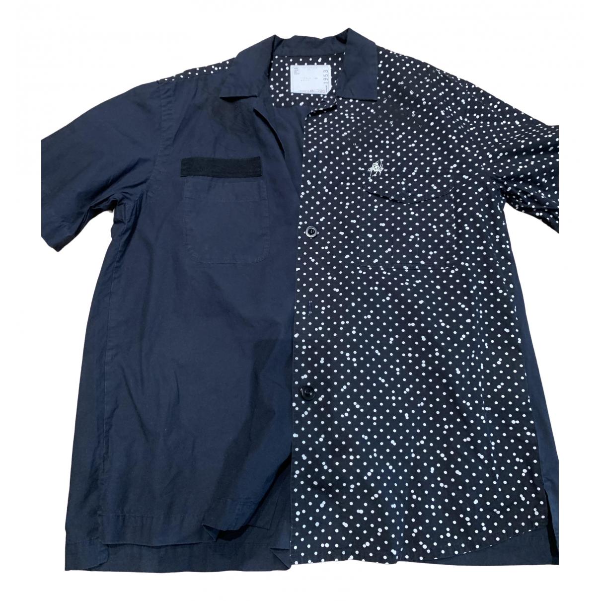 Sacai - Chemises   pour homme en coton - marine