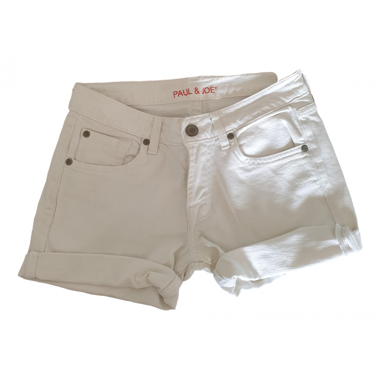 Paul & Joe \N Shorts in  Weiss Baumwolle - Elasthan