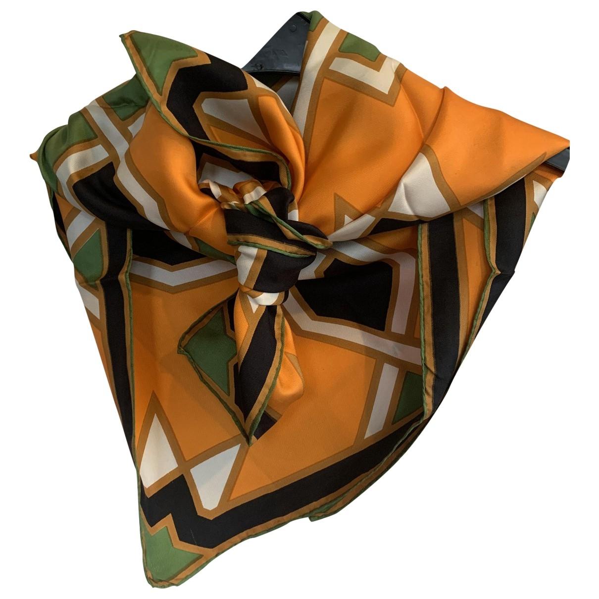 Lanvin \N Tuecher in  Orange Seide