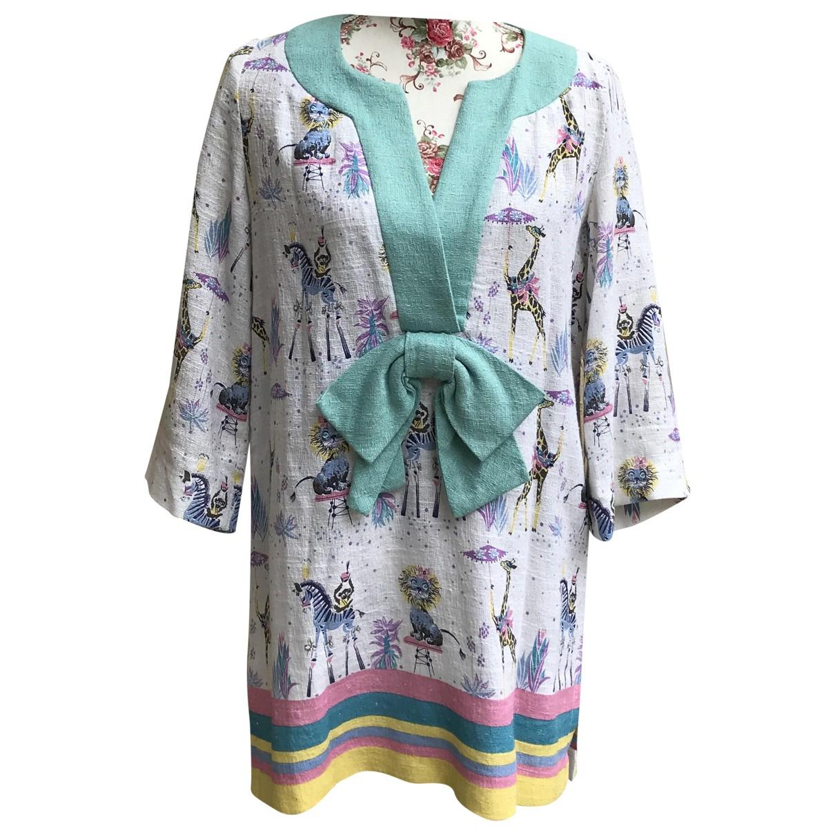 Manoush - Robe   pour femme en lin - multicolore