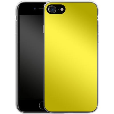 Apple iPhone 8 Silikon Handyhuelle - Test Yellow von caseable Designs