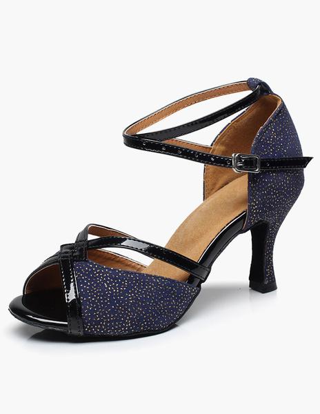 Milanoo Glitter Open Toe Ballroom Shoes