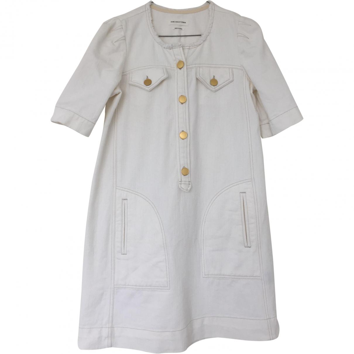 Isabel Marant Etoile \N White Denim - Jeans dress for Women 38 FR