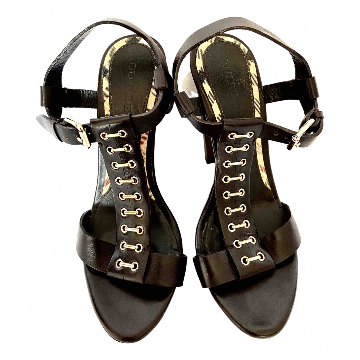 Burberry \N Brown Leather Heels for Women 36 EU