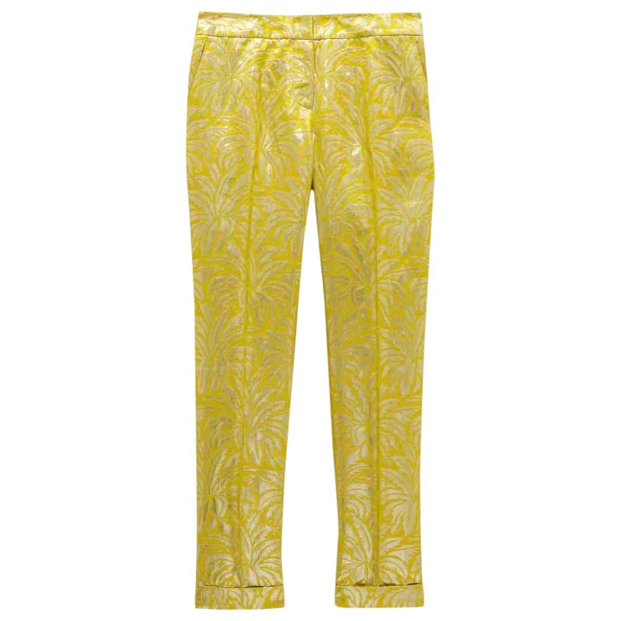 Pantalon recto de Seda Tory Burch