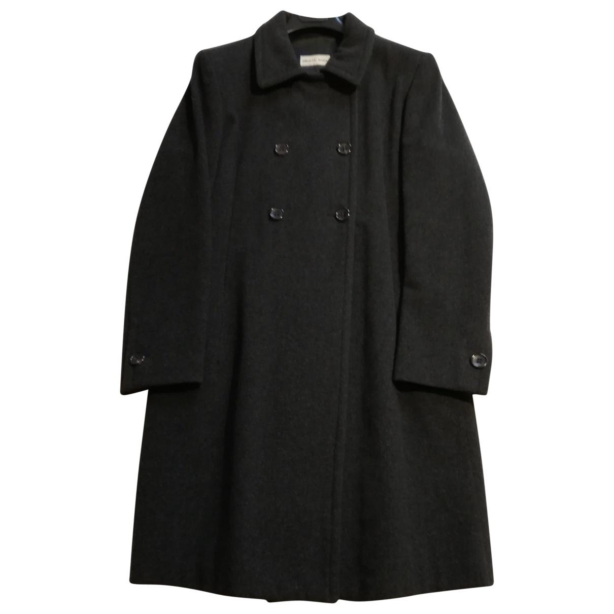 Alberto Biani \N Anthracite Wool coat for Women 42 IT