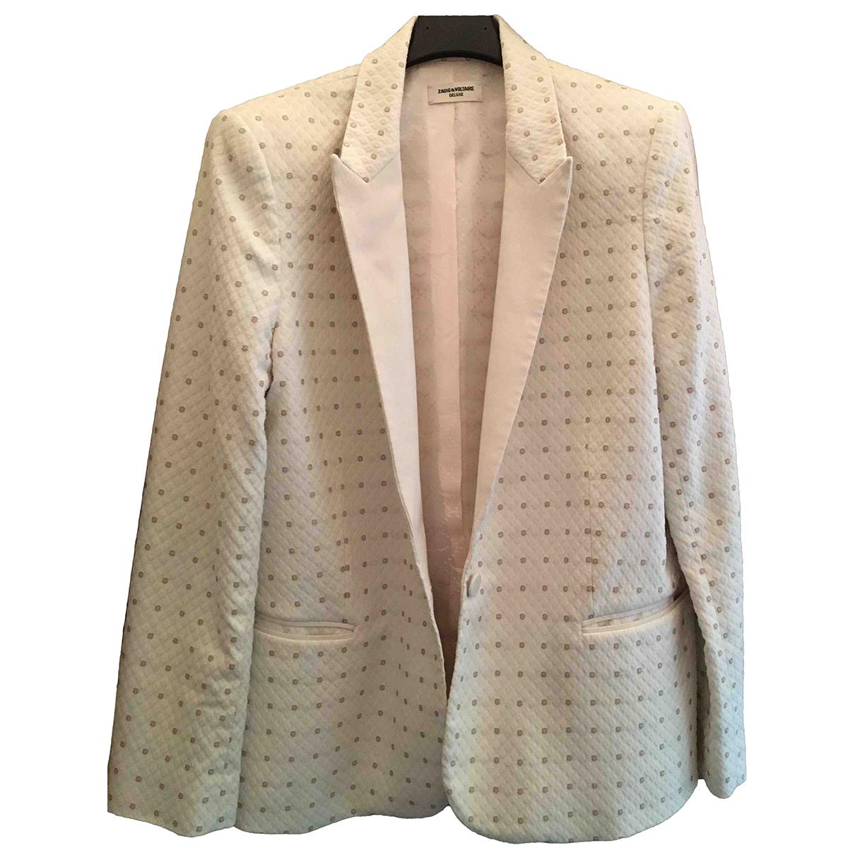 Zadig & Voltaire N Ecru jacket for Women M International
