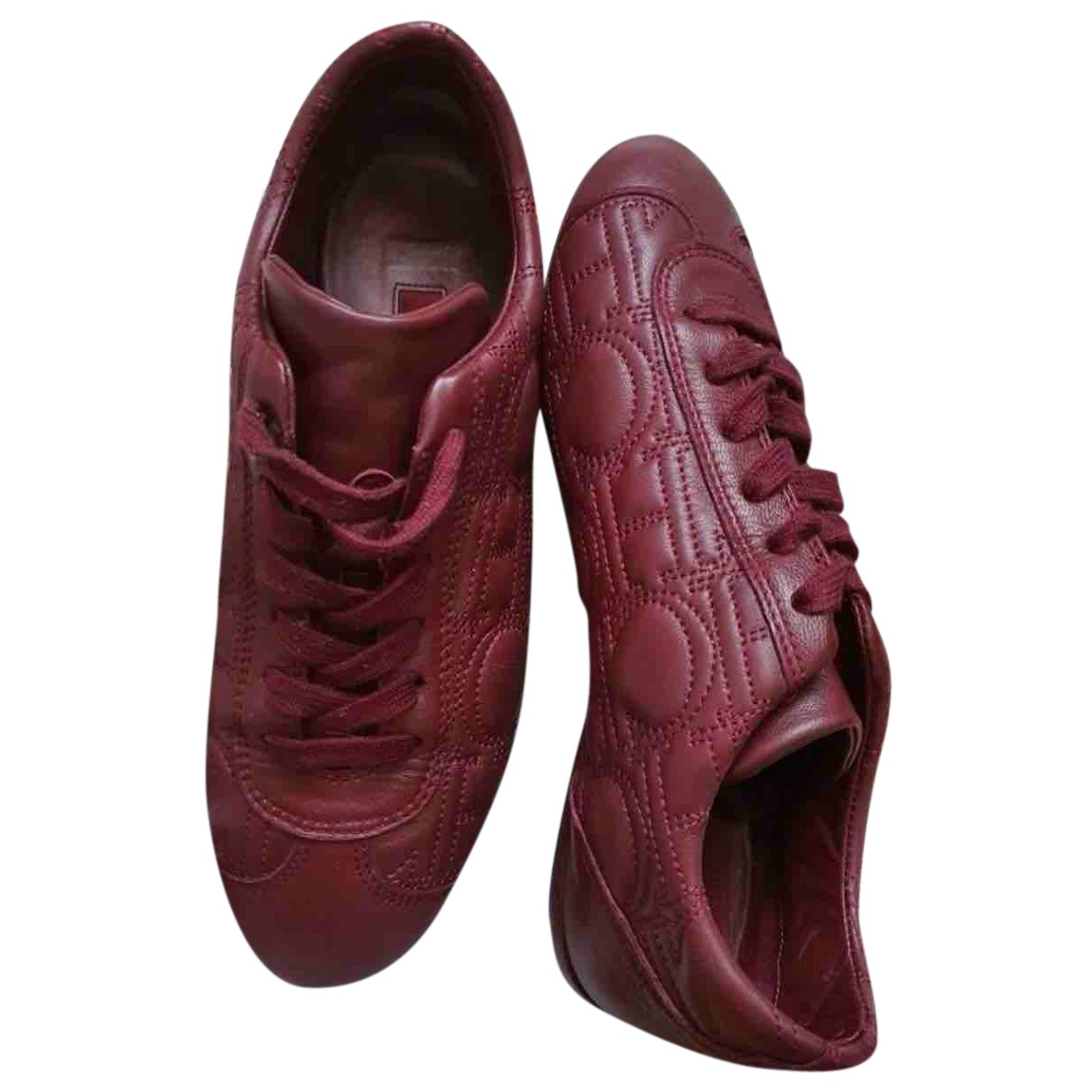 Carolina Herrera - Baskets   pour femme en a paillettes - rouge