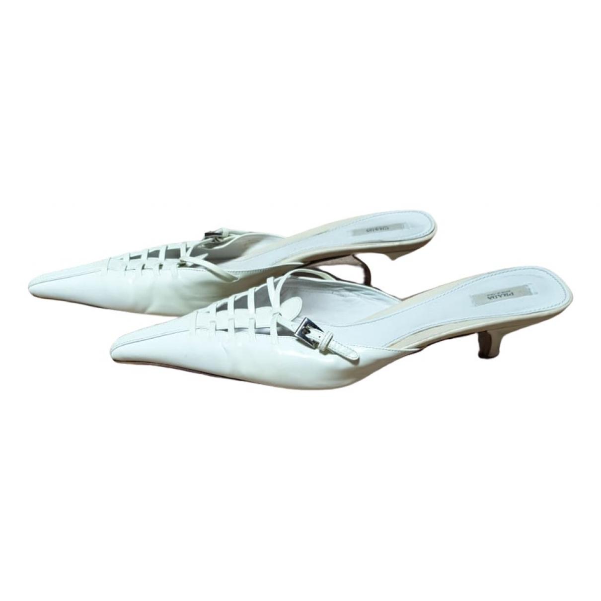 Prada \N White Patent leather Sandals for Women 39 EU