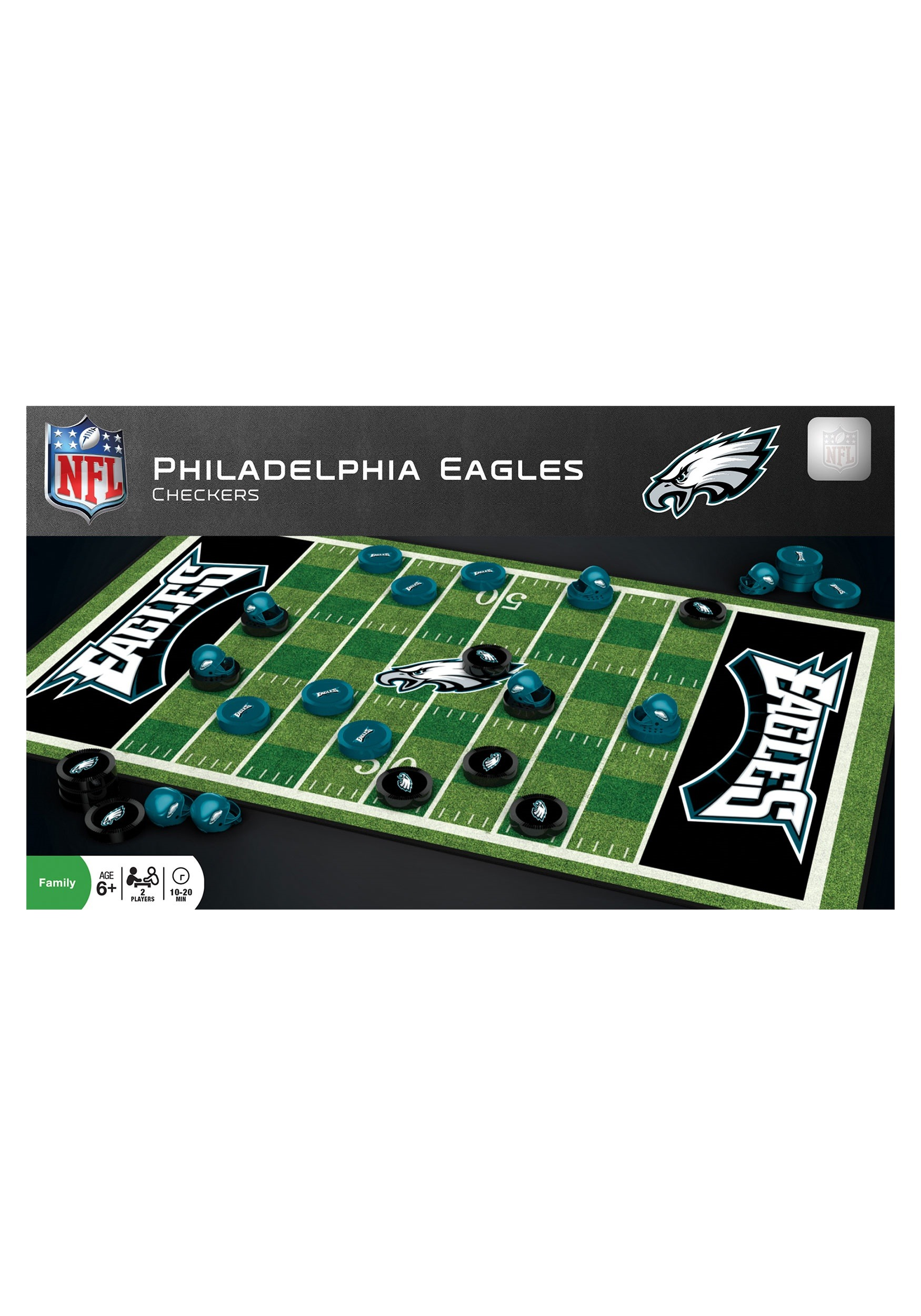 NFL Philadelphia Eagles Football Checkers