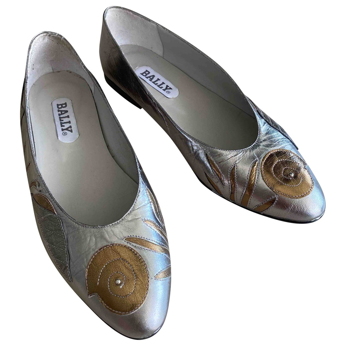 Bally \N Silver Leather Ballet flats for Women 37 EU