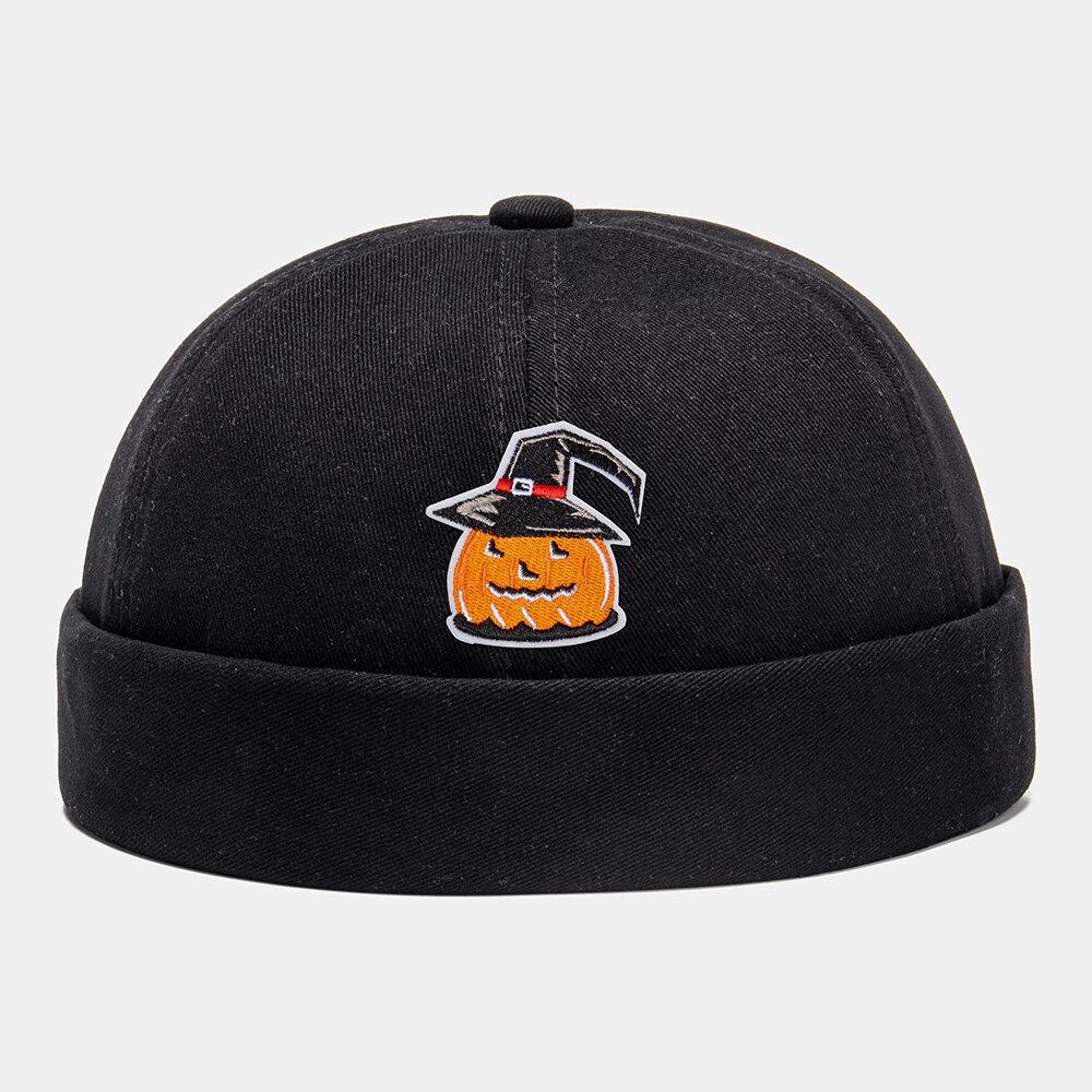 Men & Women Halloween Style Dressed Fashion Casual UV Urotection Sunscreen Brimless Beanie Landlord Cap Skull Cap