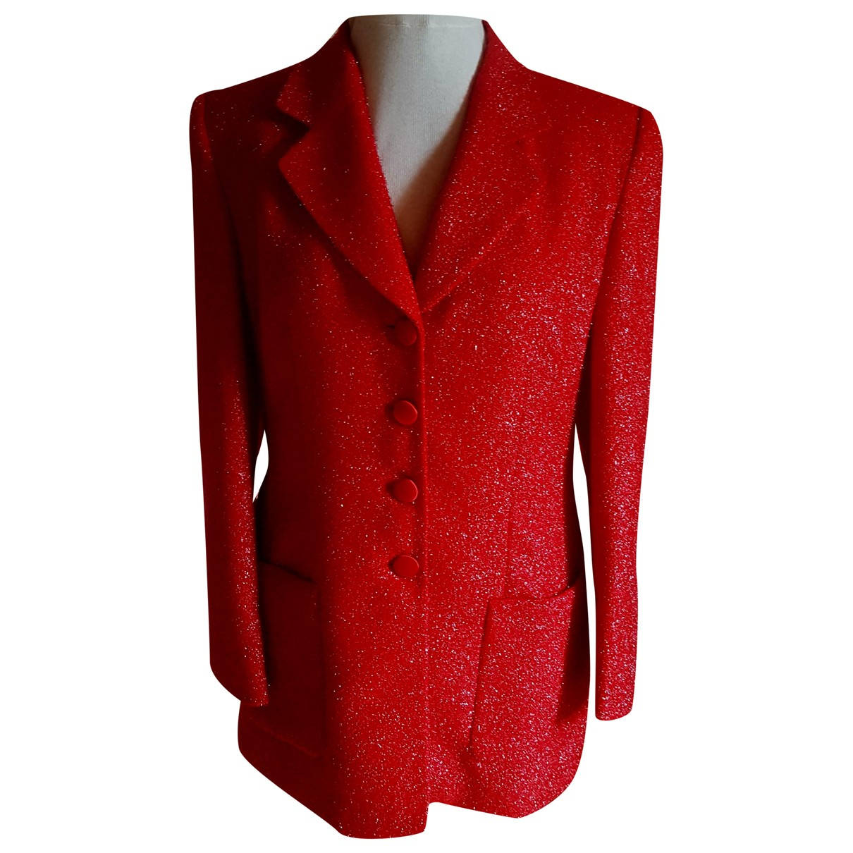 Louis Feraud N Red Wool jacket for Women 42 FR