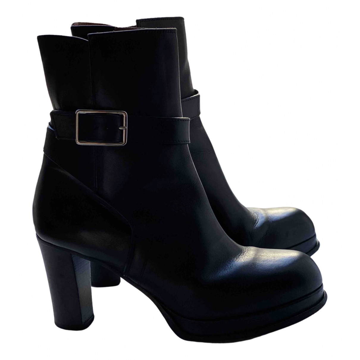 Acne Studios N Black Leather Ankle boots for Women 36 EU