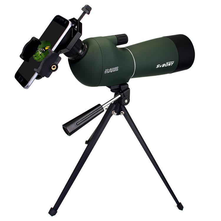 IPRee® 20-60x60 Zoom Monocular HD Optic BK7 Bird Watching Spotting Telescope+Tripod+Phone Holder