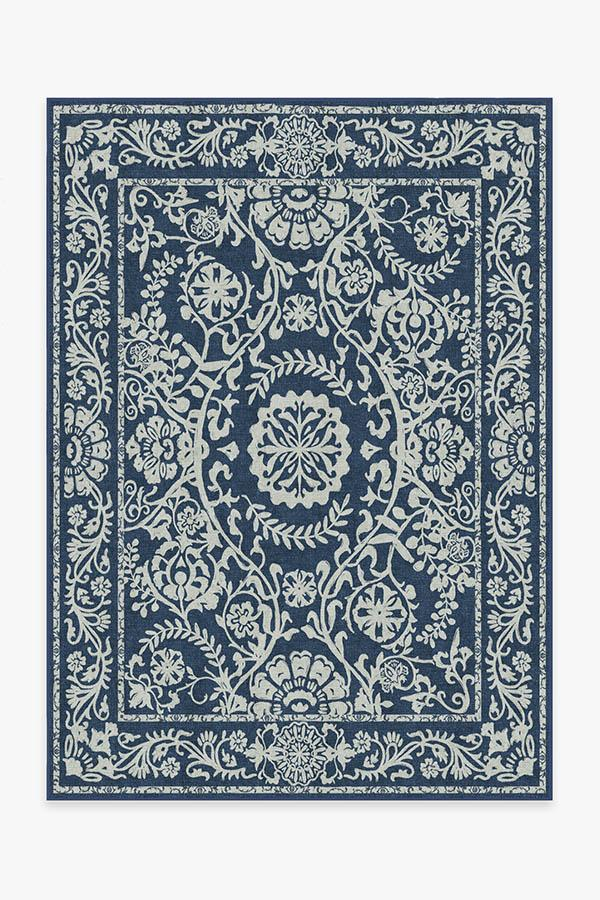Washable Rug Cover | Delphina Navy Blue Rug | Stain-Resistant | Ruggable | 5'x7'