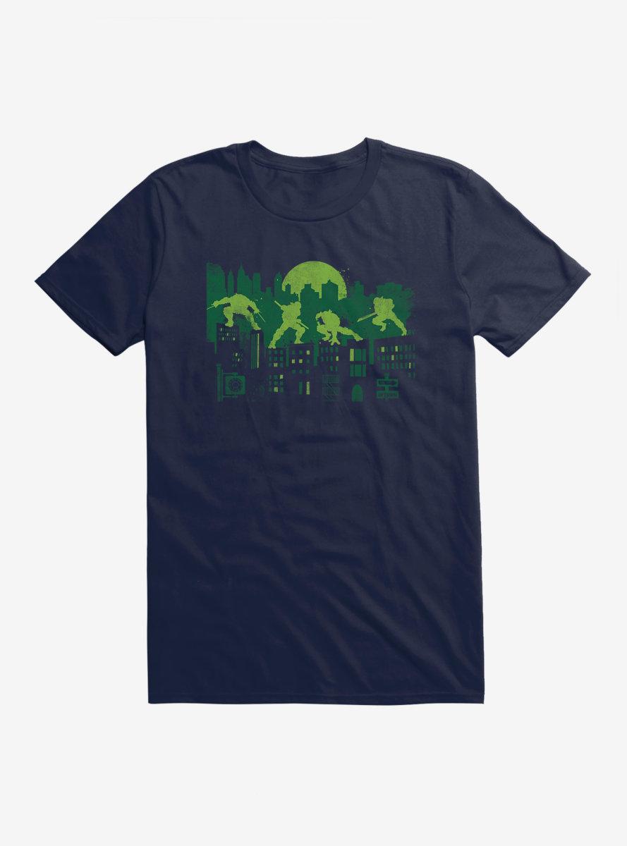 Teenage Mutant Ninja Turtles Group Battle Pose Outlines T-Shirt
