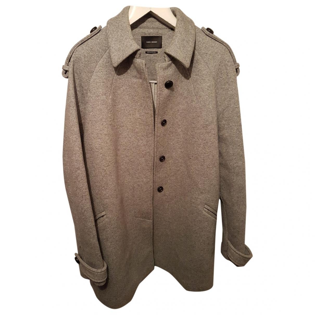 Isabel Marant \N Grey Wool coat for Women 40 FR