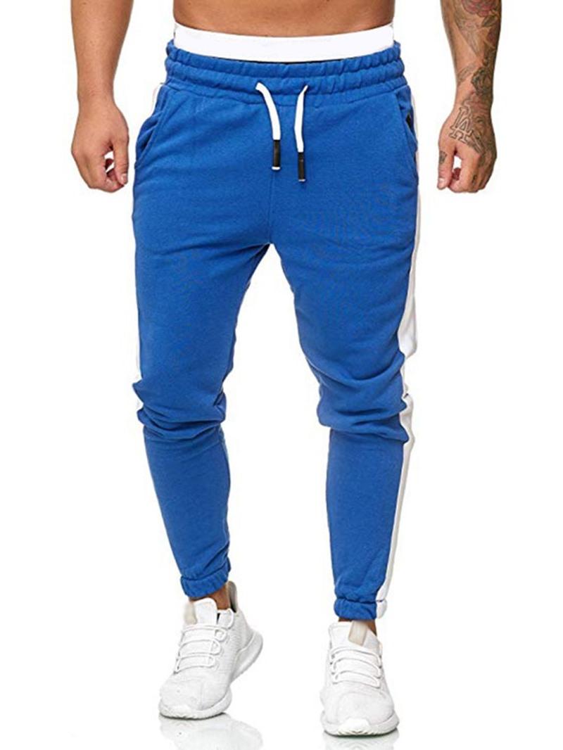 Ericdress Color Block Pocket Mid Waist Men's Casual Pants