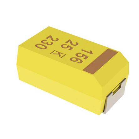 KEMET Tantalum Capacitor 330μF 10V dc MnO2 Solid ±10% Tolerance , T495 (500)