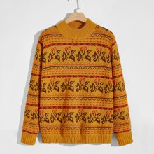 Guys Fair Isle Knit Sweater