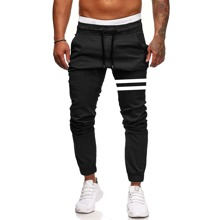 Pantalones de cintura con cordon de rayas