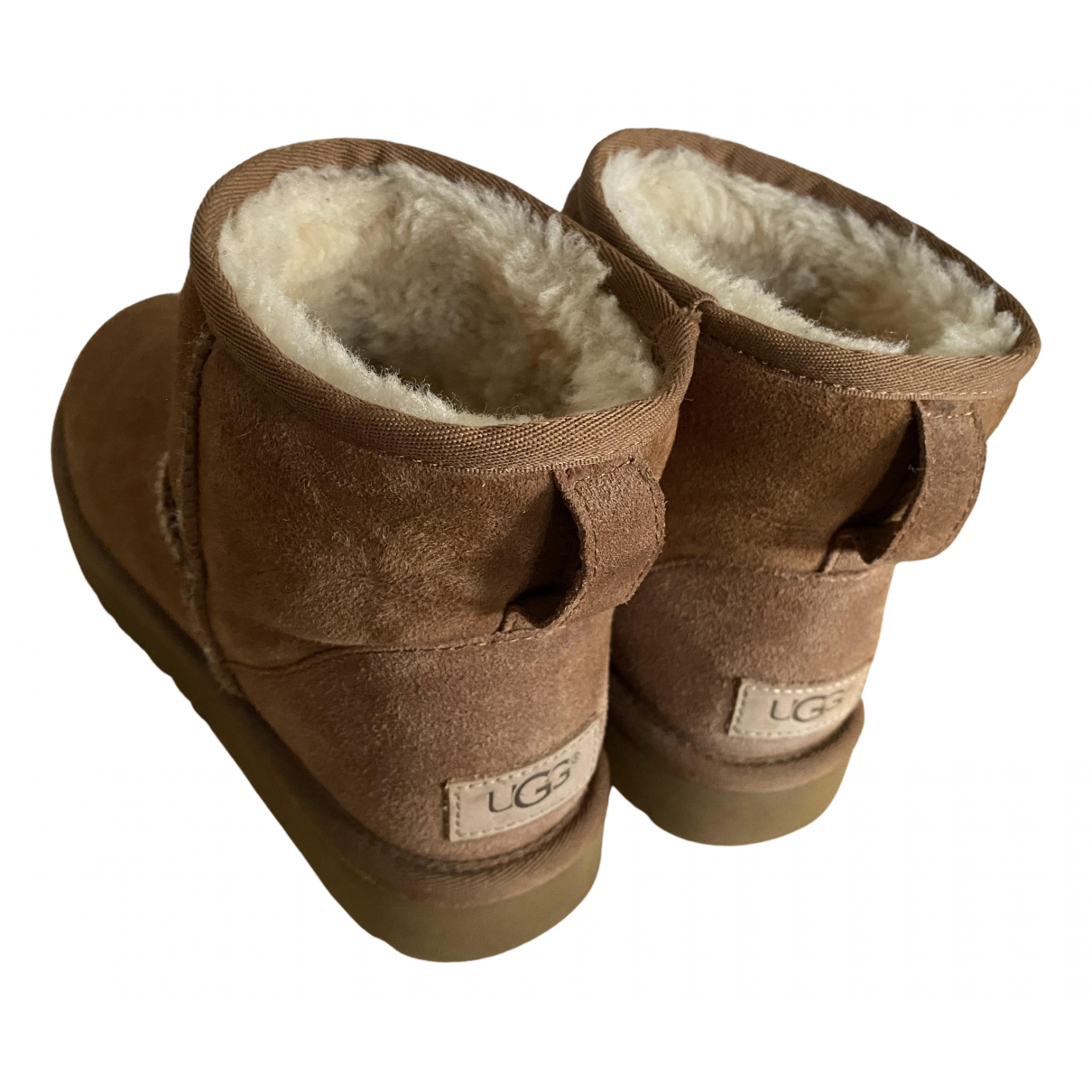 Ugg N Camel Leather Boots for Women 5.5 UK