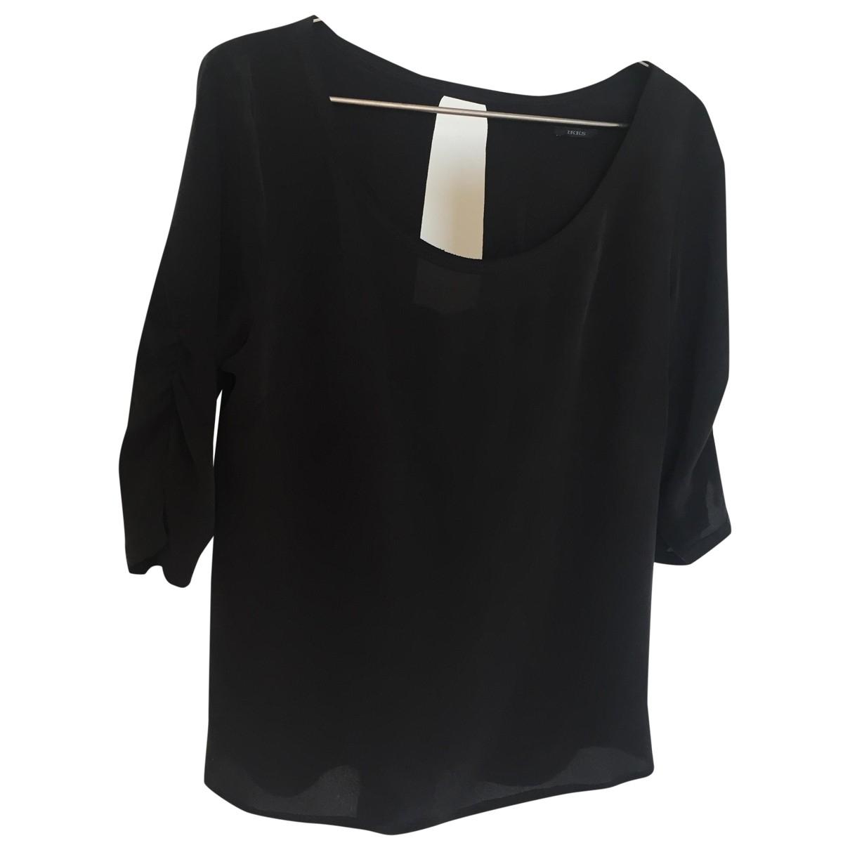 Ikks \N Black Silk  top for Women 42 FR