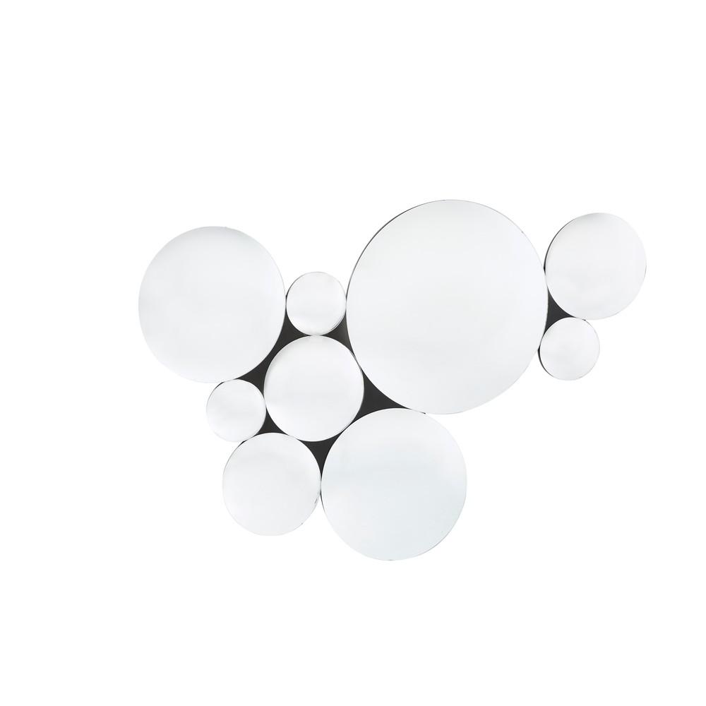 Set aus 9 konvexen Spiegeln, silberfarben, 123x87