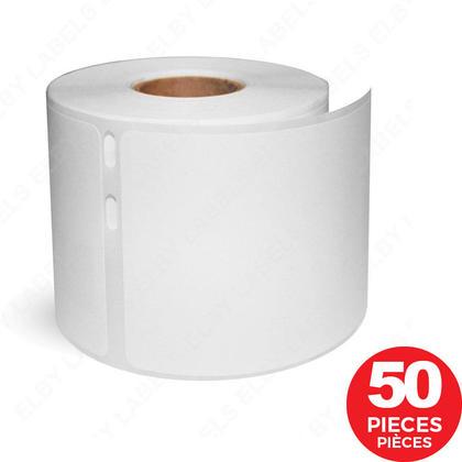DYMO 30323 LabelWriter étiquettes d'expédition compatible, 2-1/8'' x 4'', Noir sur blanc - 50/paquet