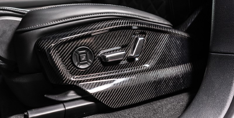 ABT 4M807006145-4 Carbon Fiber 2pc Front Seat Panels Audi SQ8   Q8 2019-2021
