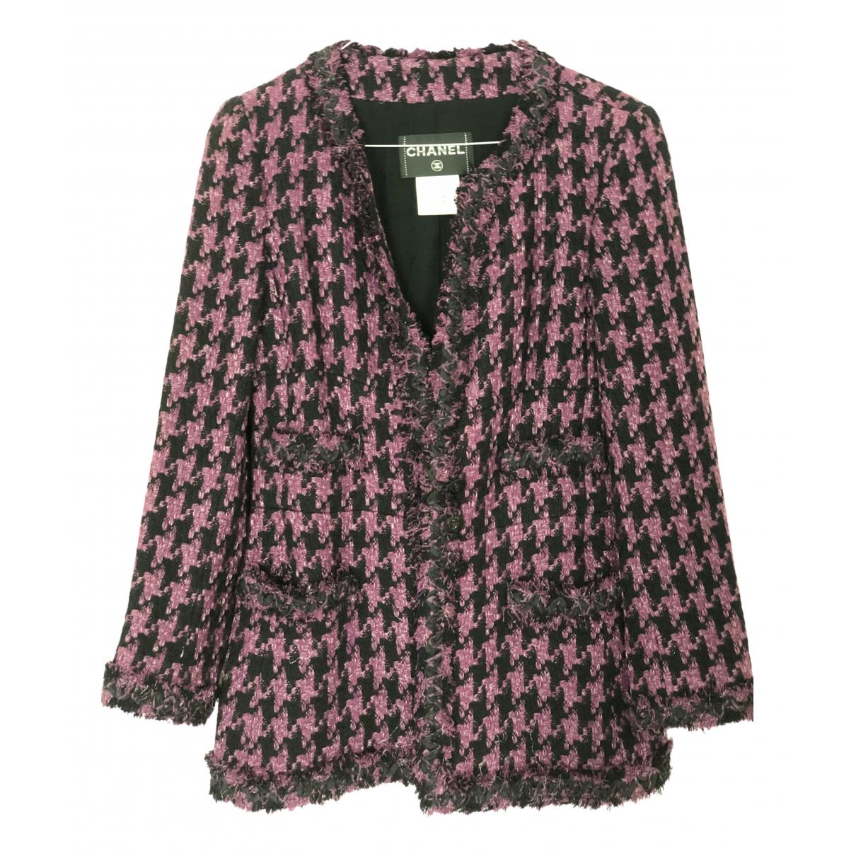 Chanel \N Jacke in  Lila Tweed