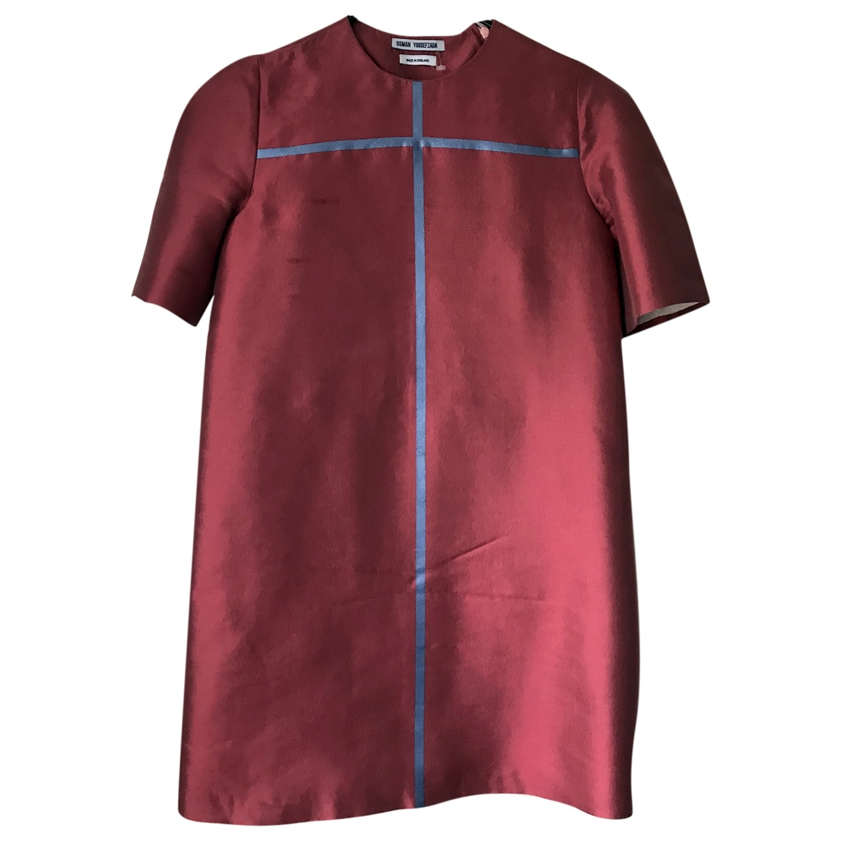 Osman London \N Kleid in  Rot Seide