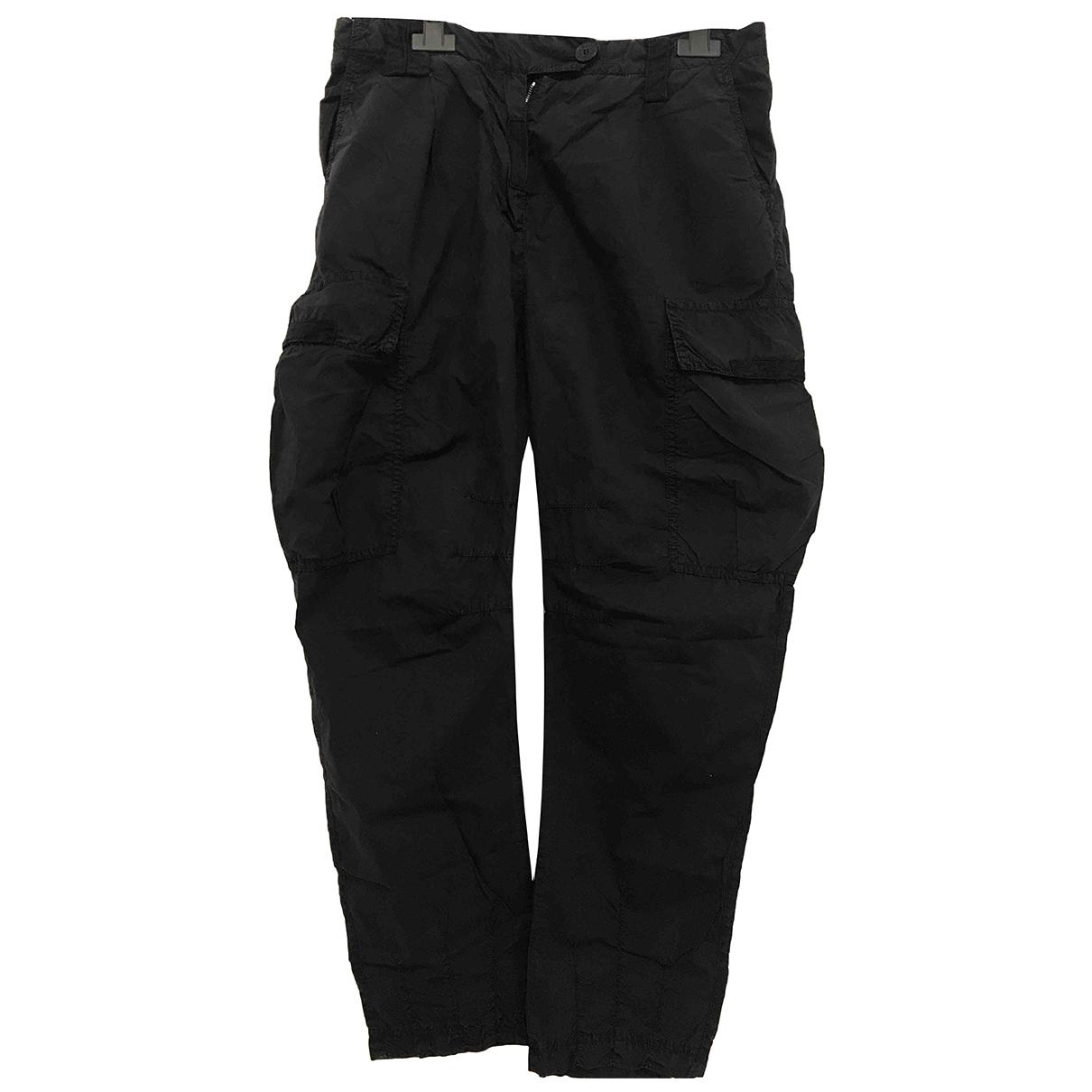 Patrizia Pepe \N Blue Cotton Trousers for Women 40 IT