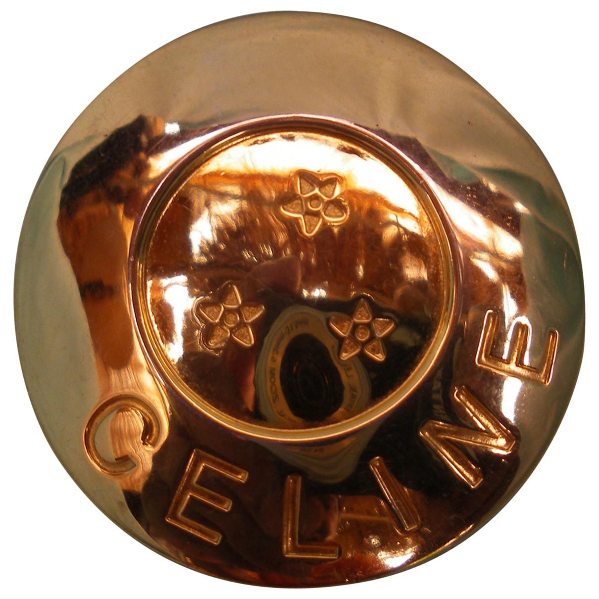 Celine - Broche   pour femme en metal - dore
