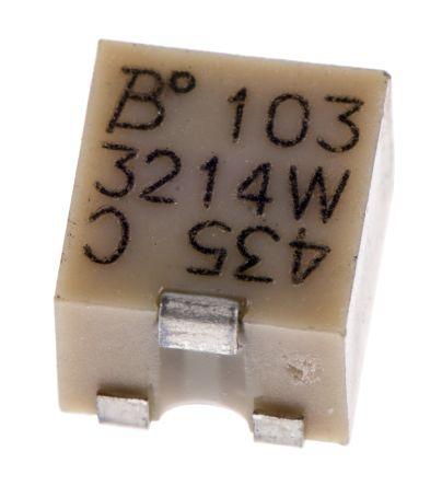 Bourns 10kΩ, SMD Trimmer Potentiometer 0.25W Top Adjust , 3214 (5)