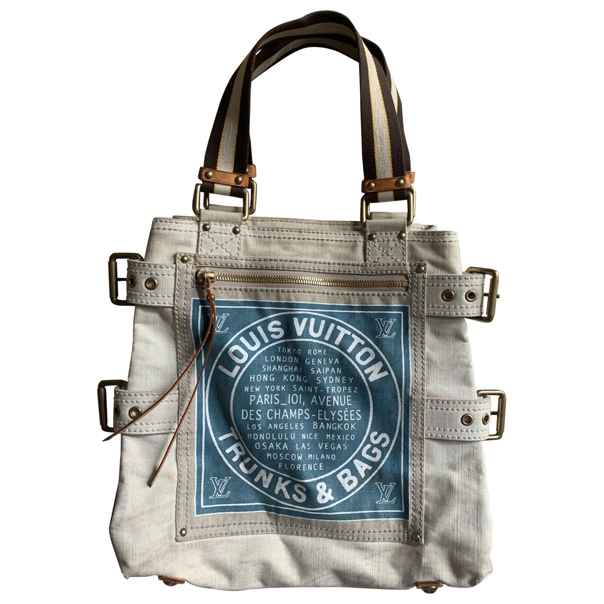 Louis Vuitton \N Beige Cotton handbag for Women \N