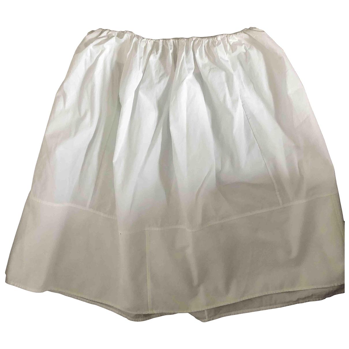Chloé \N White Cotton skirt for Women 36 FR