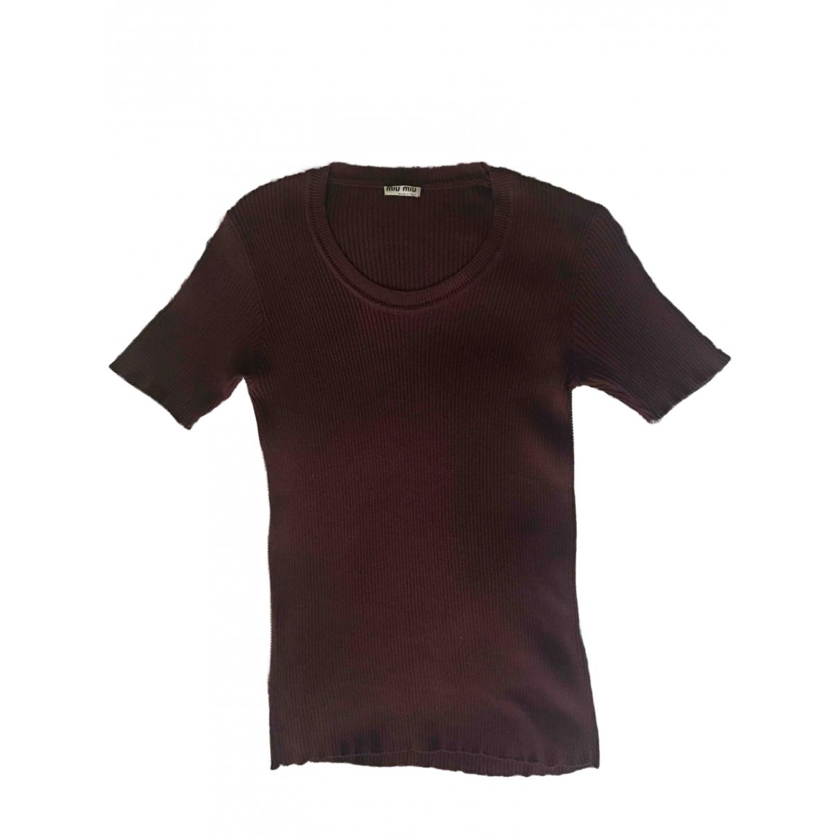 Miu Miu \N Purple Cotton  top for Women 40 IT