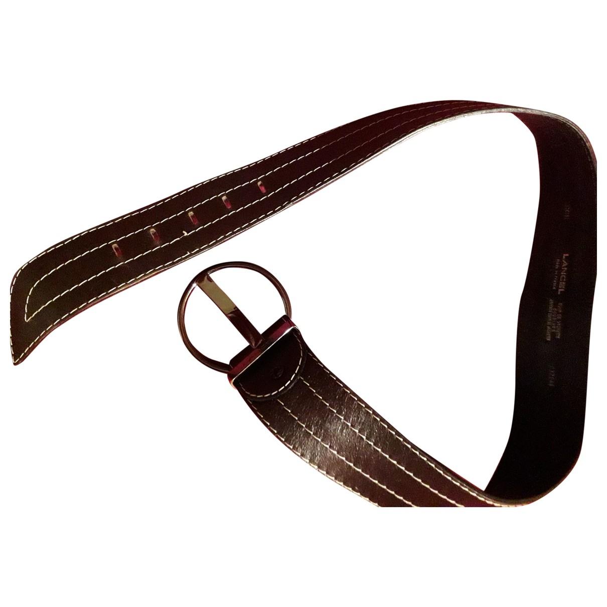 Lancel \N Brown Leather belt for Women 75 cm