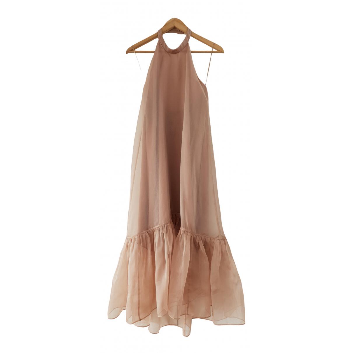 Pinko \N Kleid in  Beige Seide