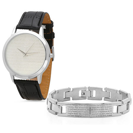 Steeltime Mens Lord's Prayer Silver Tone Bracelet Watch-998-010-W-613-149-B, One Size , No Color Family