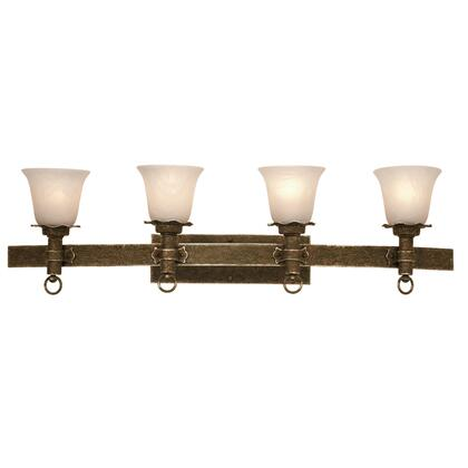 Americana 4204AC/PS15 4-Light Bath in Antique Copper with Penshell Natural Option 15 Glass