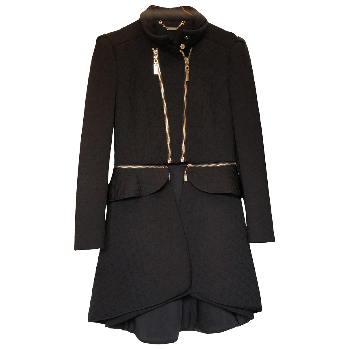 Mangano N Black coat for Women 42 IT