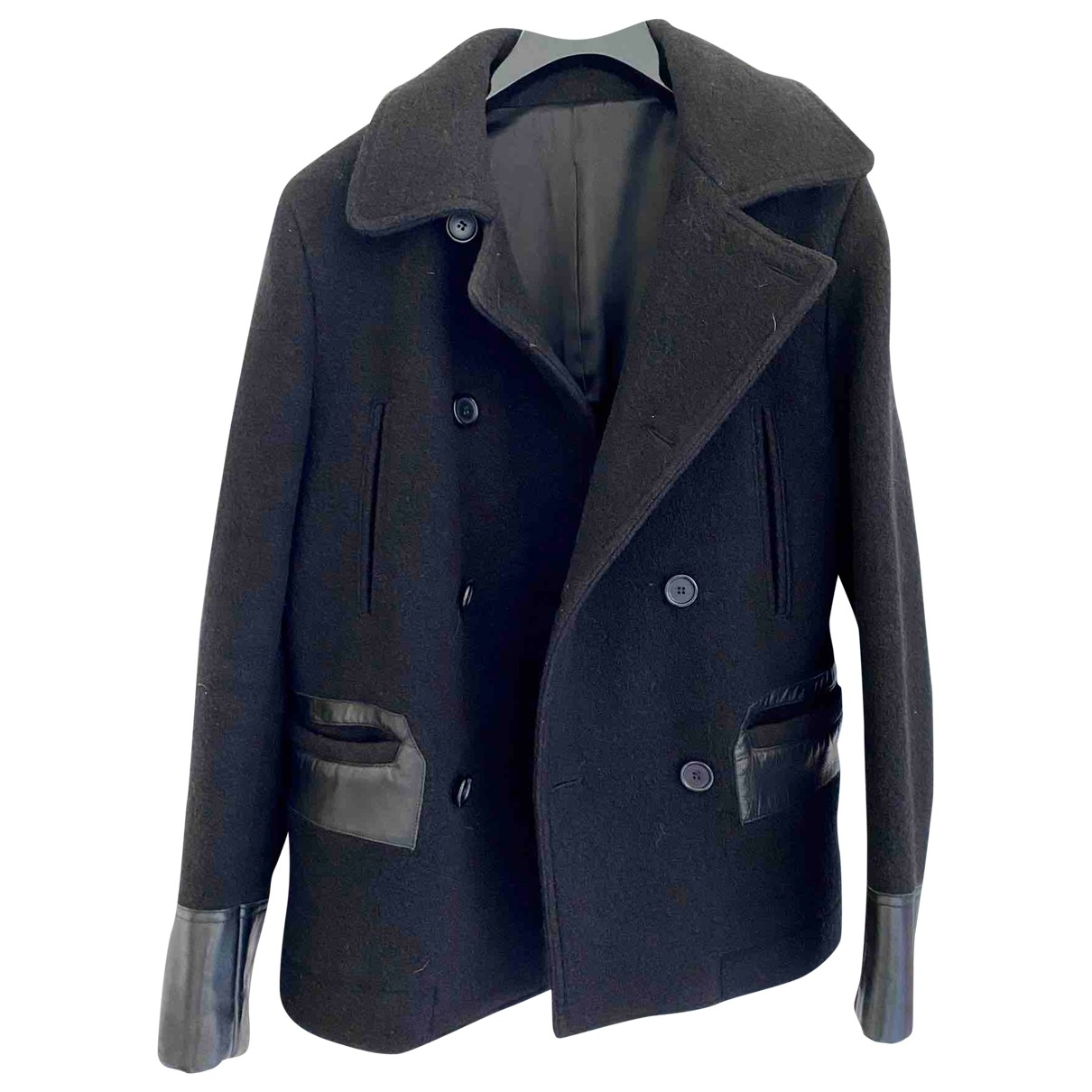 Sandro \N Black Wool coat  for Men M International
