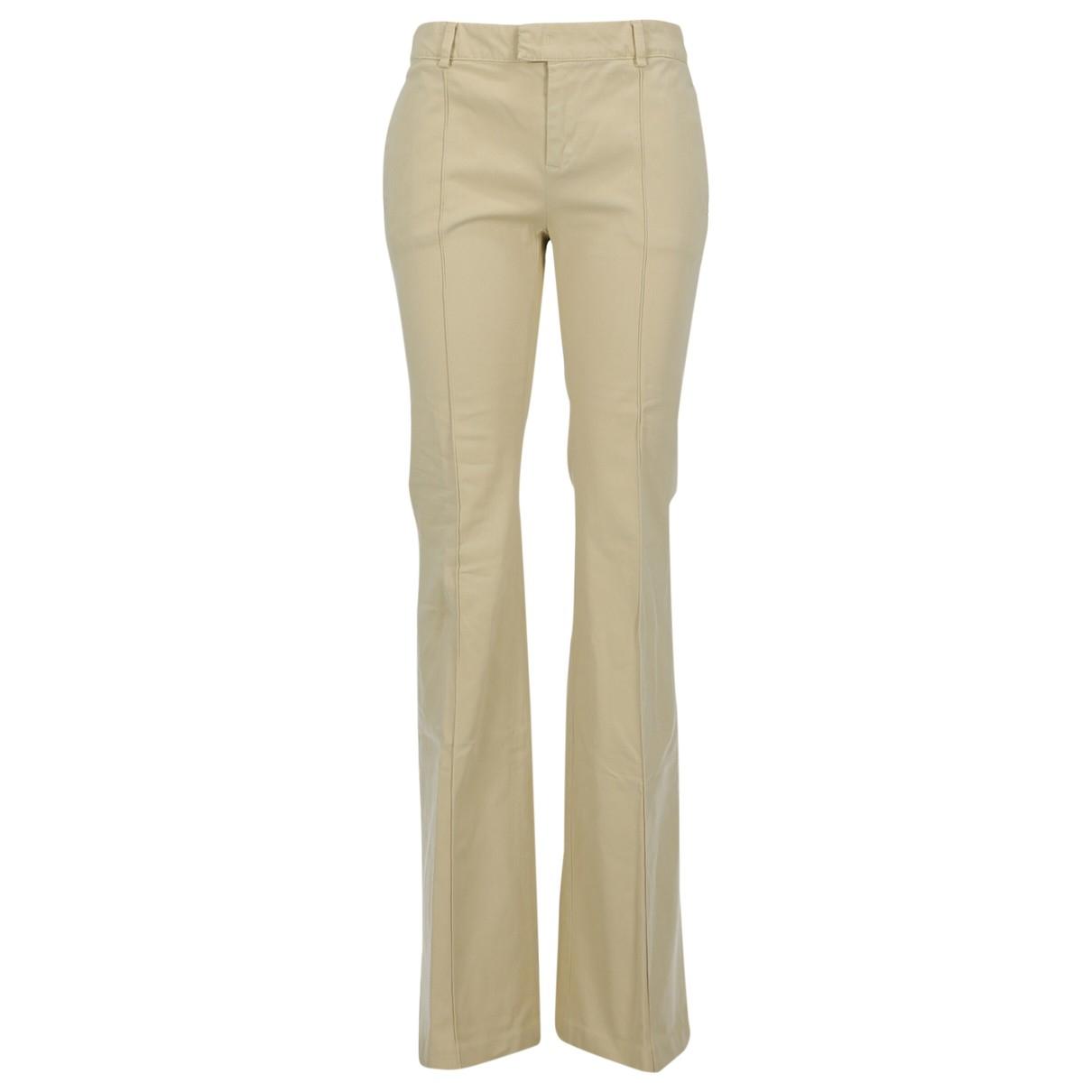 Pantalon en Algodon Beige See By Chloe